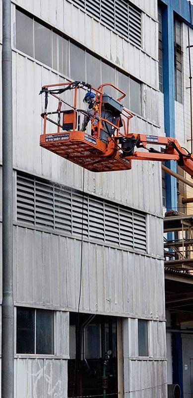 Pintura de fachada comercial